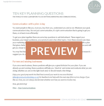 preview marketing planning template